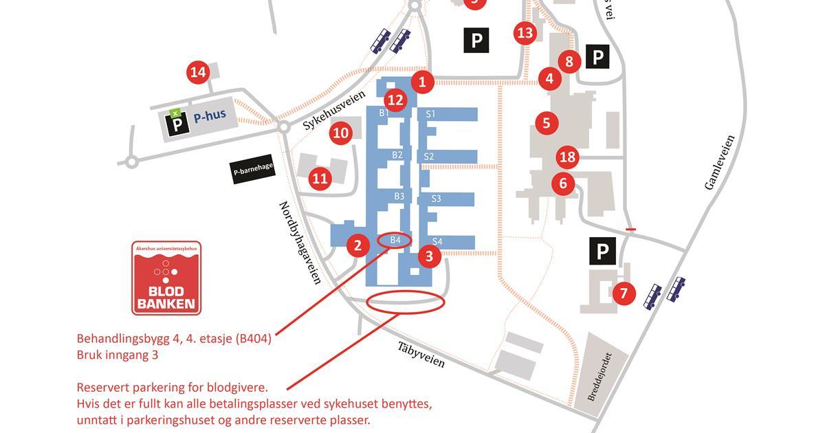 Blodbanken Nordbyhagen Akershus Universitetssykehus